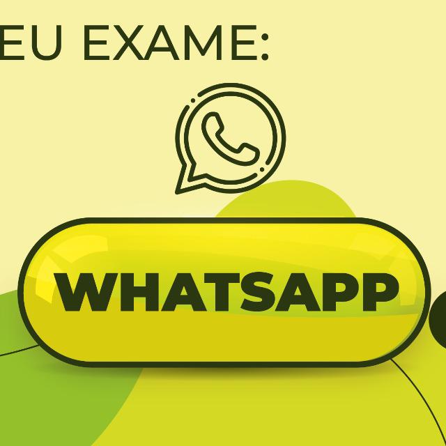 Agende seu exame pelo whatsapp